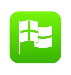holland flag icon green vector image