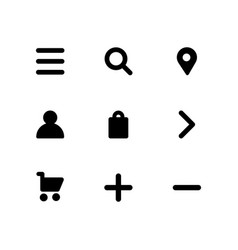 icon set in flat design ui social icon set vector image
