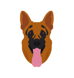 isolated german shepherd avatar vector image