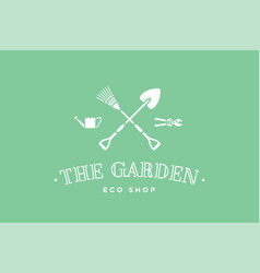 Logo of eco shop the garden vector