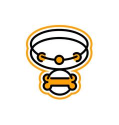 Logo on theme pets collar for a dog bone vector