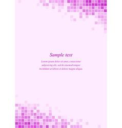Magenta page corner design template vector