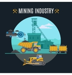 Mining Industry Background vector