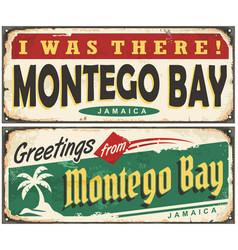 montego bay retro tin signs vector image