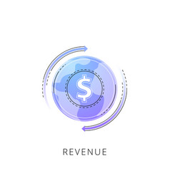 Neon revenue line icon vector
