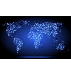 Neon world map vector