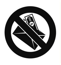 no money bribery icon simple style vector image