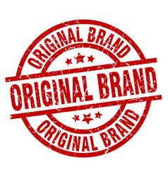 Original brand round red grunge stamp vector