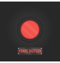 Panic button sign on black background vector
