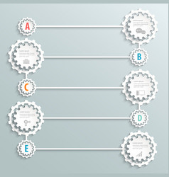 Paper design infographic with icons vector