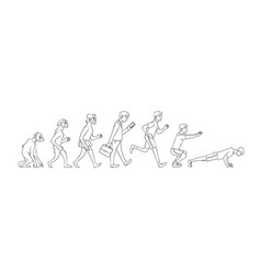 People evolution from monkey to business vector