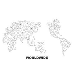 Polygonal mesh worldwide map vector