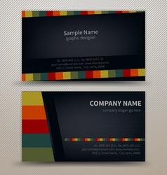 Premium business Card Set EPS10 vector image vector image