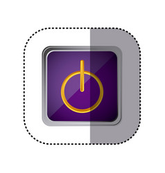 purple emblem power button vector image