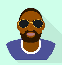 Rapper icon flat style vector
