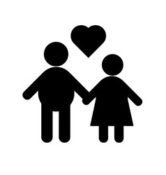 relationship icons vector image