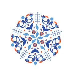 scandinavian style blue wreath vector image