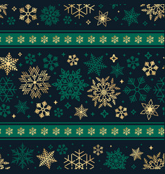 seamless ribbon with christmas snowflake pattern vector image