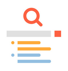 search engine flat vector image