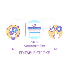 Self assessment test concept icon vector