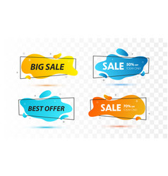 set sale banners with trendy shapes vector image