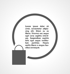 Shopping bag symbol and circle vector