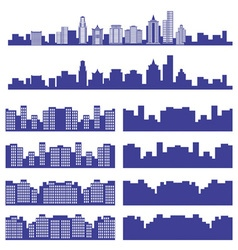 silhouettes of the city vector image