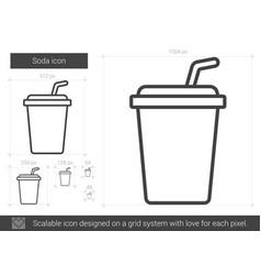Soda line icon vector