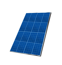 solar plate collector isolated on white background vector image
