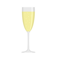 Sparkling champagne icon flat style vector