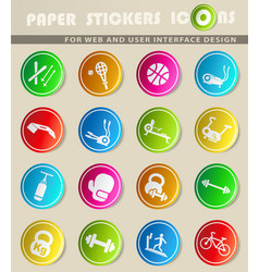 Sport equipment icon set vector