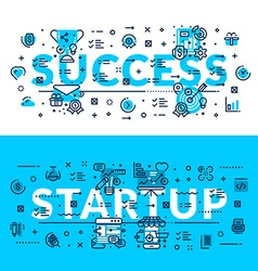 Success and StartUp Modern style heading title web vector