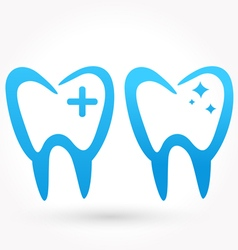Teeth icon vector