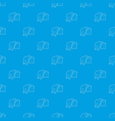 train pattern seamless blue vector image