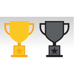 Trophy award icon on a transparent background vector