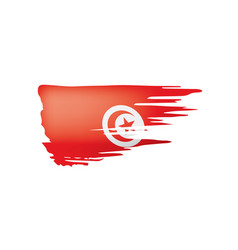tunisia flag on a white vector image