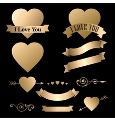Valentines day icons collection items vector