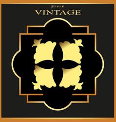 Vintage ornamental golden retro frame template vector