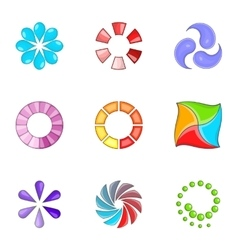 Web loader icons set cartoon style vector image