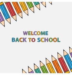Welcome back to school bacground with text vector