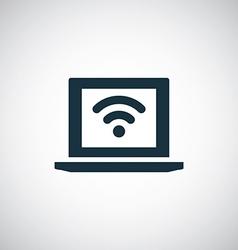 wifi laptop icon vector image
