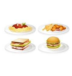 a food vector image vector image