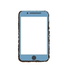 blue mobile phone screen technology sketch vector image