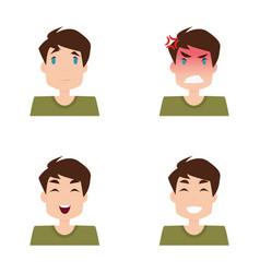 boy expression faces vector image