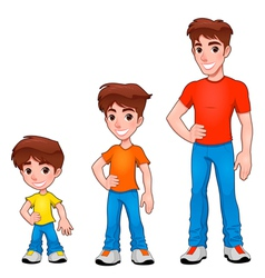 Child boy and man description of age vector