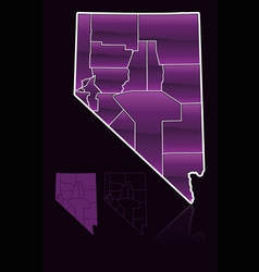 counties of nevada vector image vector image