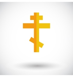 Cross single icon vector image vector image