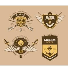 Desert military vintage labels vector image