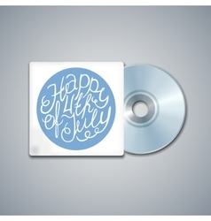 Mixed CD Cover Mockup Template with Lettering vector image vector image