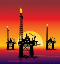 oil platform vector image